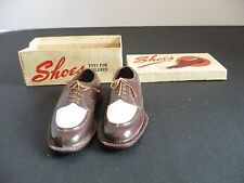 TOY SHOES Hong Kong for Children No. 226 Brown & White Oxford Mens Toy Shoes