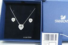 Swarovski Cyndi Set, Pendant/Earrings Heart Shaped Clear crystal MIB 5112175