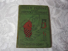Billy Bunny and Friendly Elephant  David Cory  book hard cover childrens