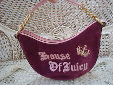 JUICY COUTURE HOUSE OF JUICY HOBO BAG WITH CROWN  **EXCELLENT CONDITION***