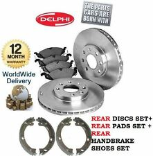 GRAND VOYAGER  2.5DT 2000-2003 REAR BRAKE DISCS & DISC PAD & HANDBRAKE SHOES KIT