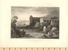 c1830 ANTIQUE PRINT ~ THE TEMPLES OF PAESTUM ~
