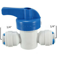 1/4'' Inline Ball Valve Quick Connect Shut Off for RO Water Reverse Osmosis SS