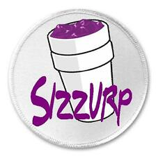 "Sizzurp Styrofoam Cup - 3"" Sew / Iron On Patch Purple Drank Lean On"