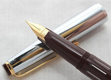 Super Rotax Piston Filling Fountain Pen in Maroon, German Made, NEW OLD STOCK!