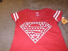 Superman Womens Juniors DC Comics Super Hero Star Red T-Shirt Size 2XL 19