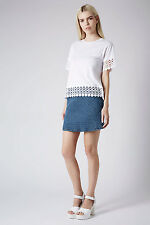 Topshop Lace Panel Tee Top , UK Size 10 , RRP -£24.00 ( LAST TWO ) Label Removed