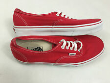 """VANS pour homme """"off THE WALL"""" rouge & blanc toile baskets us taille 10 uk taille 9"""
