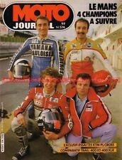 MOTO JOURNAL  574 Essai YAMAHA XT 400 S HONDA XLR 600 R KTM 125 PL DAKAR 1982