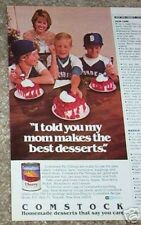 1983 ad - Comstock Cherry Pie Filling cute baseball boys girl Curtice-Burns AD