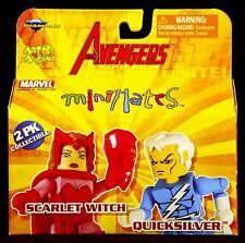 2007 MARVEL MINIMATES WAVE 16 AVENGERS SCARLET WITCH & QUICKSILVER  MIP