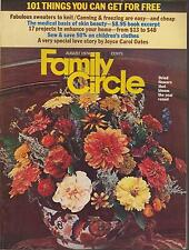 FAMILY CIRCLE MAGAZINE AUGUST 1974 * DRIED FLOWERS/FABULOUS SWEATERS*