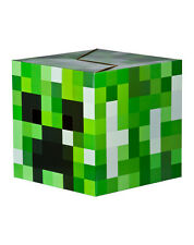 "MINECRAFT CARDBOARD BOX HEAD! CREEPER GREEN BLOCK COSTUME JINX MOJANG 12"" BNIB"