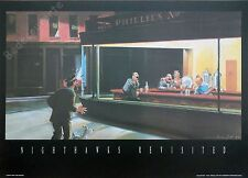 Affiche Esteve Fort Tintin Nighthawks revisited 50x70 cm