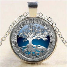 Metatron's Cube Art Photo Cabochon Glass Tibet Silver Chain Pendant Necklace SC2