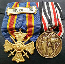 ✚6726✚ German WW1 mounted medal group Remembrance Cross Warrior League Honour