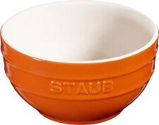 6er Set Staub Keramik Schüssel Schale Obstschüssel rund Orange 14cm