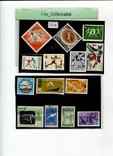 7 PCS FENCING & 7 PCS HIGH JUMP USED STAMPS # S419