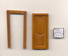 Half 1/24 Scale Door by Bespaq S801NWN Craftsman style dollhouse miniature