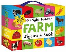 (New) Bright Toddler: Farm Jigsaw and Book Set by Roger Priddy
