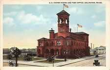 B23/ Galveston Texas Tx Postcard c1910 U.S. Custom House and Post Office