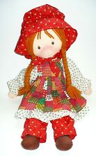 VINTAGE 1988 HOLLY HOBBIE CARRIE PLUSH 20 IN. DOLL VERY NICE COND.