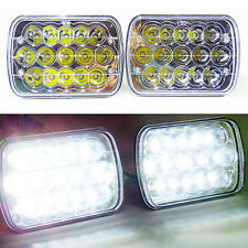 7x6 LED Headlights HID Light Bulbs Crystal Clear Sealed Beam Headlamp Pair