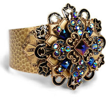 NEW SWEET ROMANCE PEACOCK MIDNIGHT CROSS CUFF BRACELET ~~MADE IN USA~~