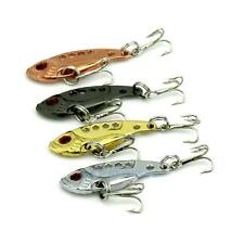 4pcs/set Metal Fishing Lures Spinner Baits Crankbait Assorted Fish Tackle Hooks