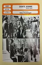 US Movie Saint Joan of Arc Jean Seberg Richard Todd French Film Trade Card