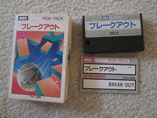 Breakout (MSX 1) Game Complete ? in Box CIB *USA Seller*