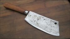 RAZOR SHARP Blemished Old Custom E.M.Hand--forged Chef's Meat Cleaver Knife