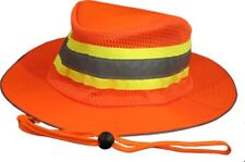 NEW Safety Orange Reflective Hi Viz Boonie Hat Bucket Cap Construction Landscape
