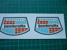 Lambretta Innocenti Scooter stickers 75mm - Pair