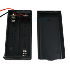 PACK LOT 100 Battery Holder 2 AA LR6 Case 3V Box Cover Switch ON/OFF Wire Lead