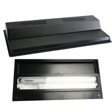 "Recessed Full Fluorescent Light Hood Black size 24"" for Perfecto/Marineland Tank"