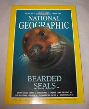 "National Geographic Magazine March 1997 ""Bearded Seals"" ""China's Gold Coast"""