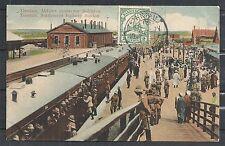 Kiautschou covers 1912 PPC Tsingtau to Aachen