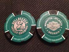 Harley Davidson Poker Chip (Green & Black GIGI) Hellbender Marietta, Georgia