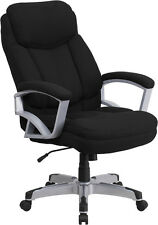 HERCULES Series 500 lb. Capacity Big & Tall Black Fabric Executive Office Chair