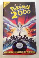 Pokemon 2000 The Movie (VHS, Clamshell) ONE PERSON CAN MAKE ALL THE DIFFERENCE