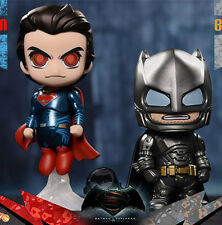 "Hot 2pcs Batman V Superman Dawn of Justice Cosbaby PVC 4"" Figures Figurine Toy"