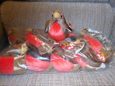 """Ty Beanie Babies WHOLESALE  - """"Early"""" the Robin - ONE DOZEN- Retired-New in Bag"""