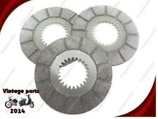 BSA BANTAM D1-D10 TRIALS FRICTION CLUTCH PLATES- LATEST SPEC. MATERIAL