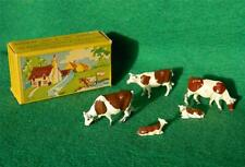 VINTAGE BRITAINS LILLIPUT HO/OO GAUGE LEAD FARM BOXED LP 507 3 COWS AND 2 CALVES