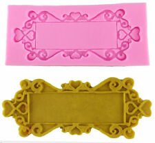Baroque Large Lace Frame Silicone Mold for Fondant, Chocolate, Crafts