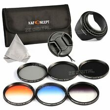 58mm ND2 4 8 Graduated Grey Lens Filter Kit For Canon Rebel T4i T3 T3i T2i 18-55