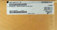 NEW SCHNEIDER ELECTRIC 990-NAD-211-10 MODBUS+DROP CABLE 990NAD21110, 2.4M/18FT
