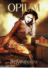 PUBLICITE ADVERTISING 126  2000   Yves Saint Laurent parfum Opium femme