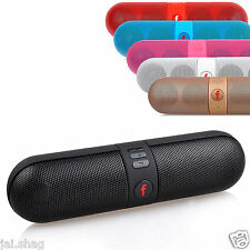 Mini Portable LED Bluetooth Wireless Stereo Pill Speaker For Phone Tablet PC